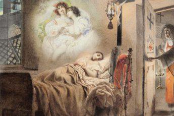 Карл Брюллов «Сон монашенки», 1831 год