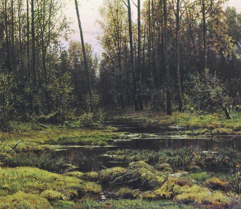 Иван Шишкин «Лес весной», фрагмент