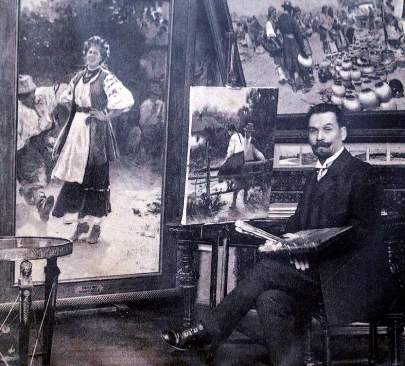Пимоненко в мастерской
