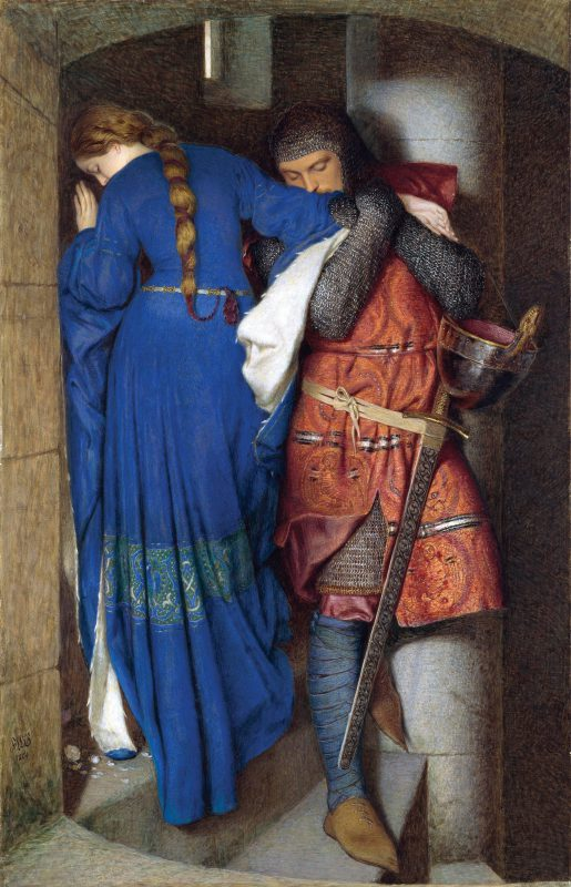 Фредерик Уильям Бёртон «Хеллелила и Хильдебранд: встреча на лестнице башни», 1864 год