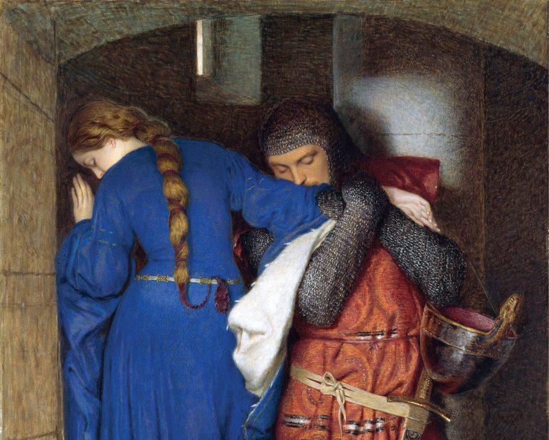 Фредерик Бёртон «Хеллелила и Хильдебранд: встреча на лестнице башни», фрагмент