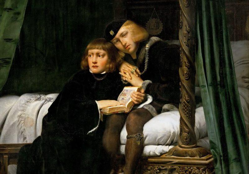 Поль Деларош «Дети короля Эдуарда IV в лондонском Тауэре», фрагмент