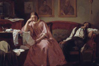 Николай Кошелев «Первое число (сцена из чиновничьего быта)», 1862 год