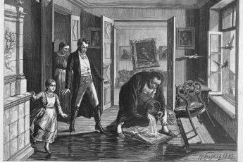 П. Ф. Борель «Эпизод из жизни Крылова», 1883 год