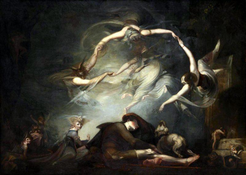 """Генрих Фюсли «Сон пастуха из оперы """"Потерянный рай""""», 1793 год"""
