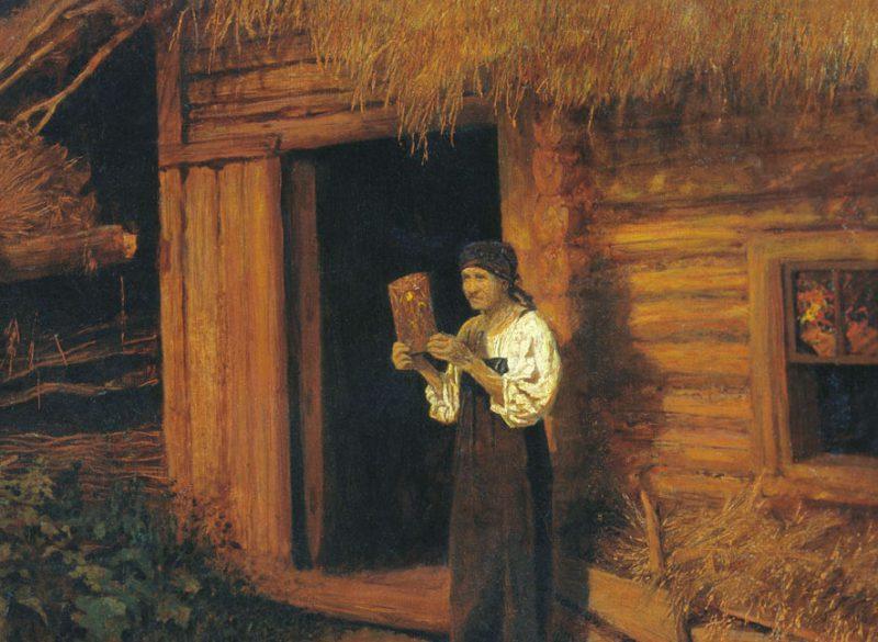 Николай Матвеев «Пожар», фрагмент