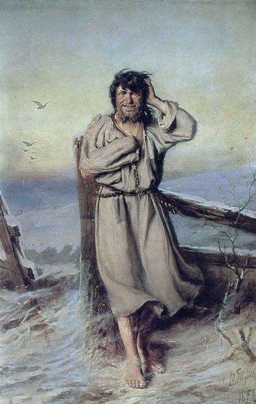 Василий Перов «Юродивый», 1879 год