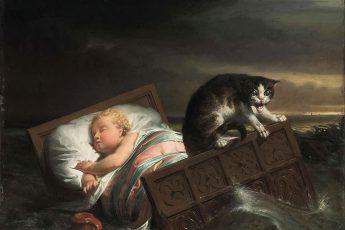 Лоуренс Альма-Тадема «Наводнение в Бисбосе в 1421 году», 1856 год