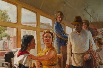 Петр Костюков «В трамвае», фрагмент