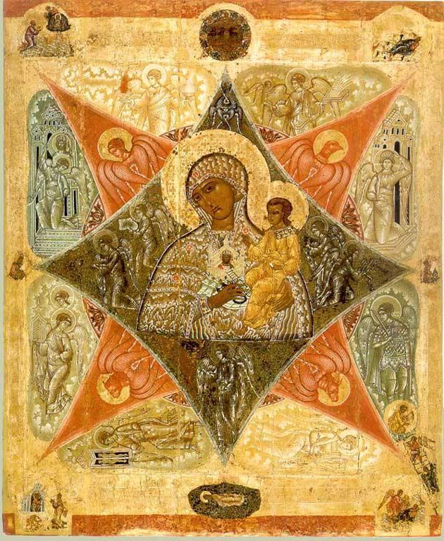 Одна из вариаций иконы «Неопалимая Купина»