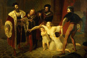 Карл Брюллов «Смерть Инессы де Кастро», 1834 год