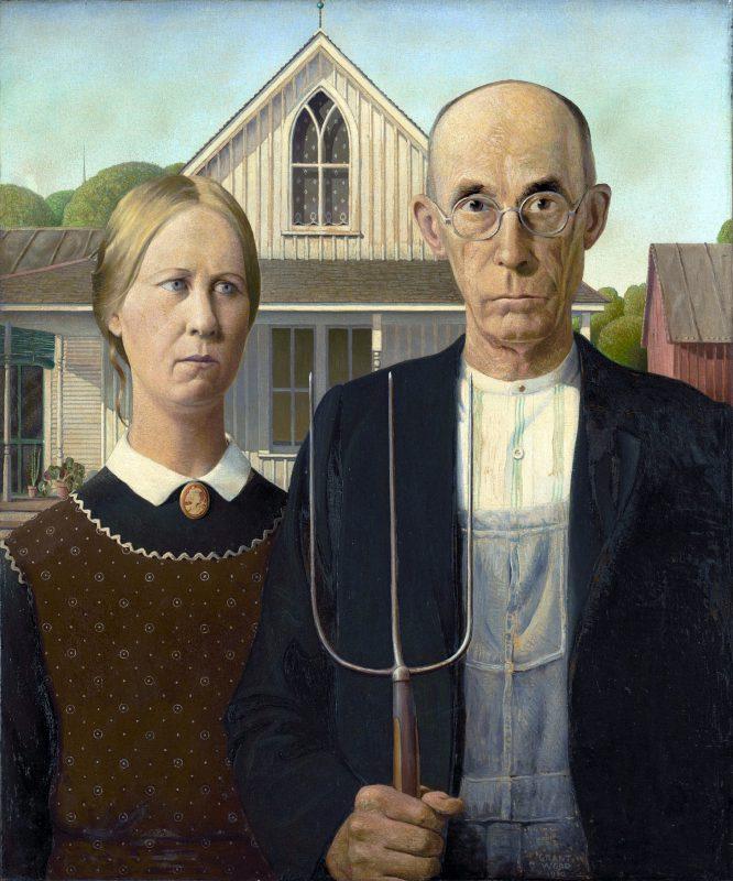 Грант Вуд «Американская готика», 1930 год