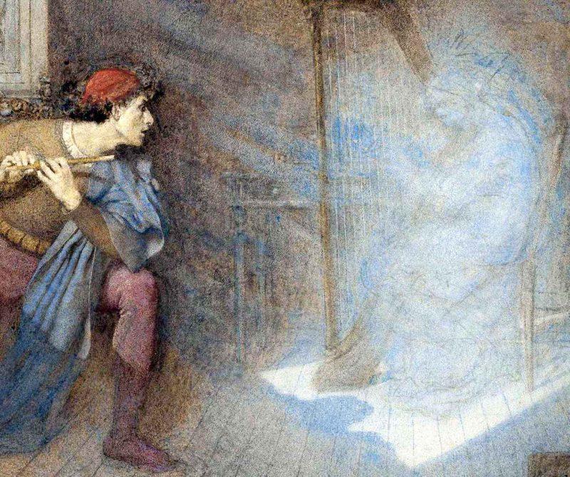 Генри Джон Сток «Перед ним возник бледный мерцающий свет», фрагмент