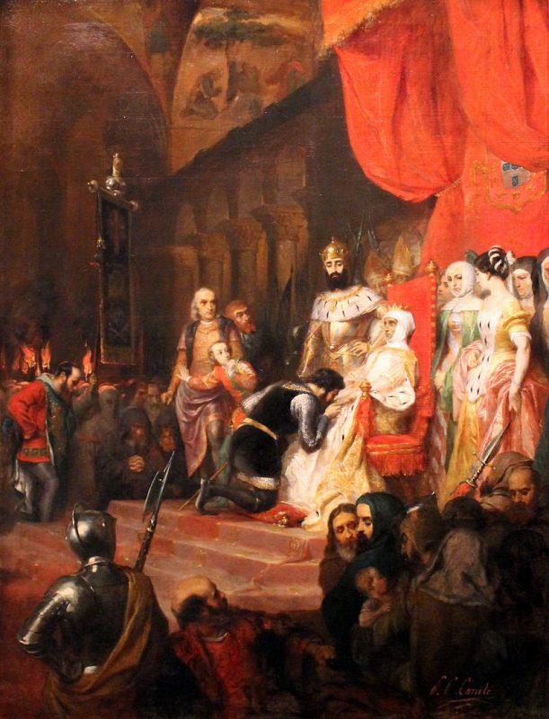 Пьер-Шарль Комт «Коронация Инес де Кастру в 1361 году», 1849 год