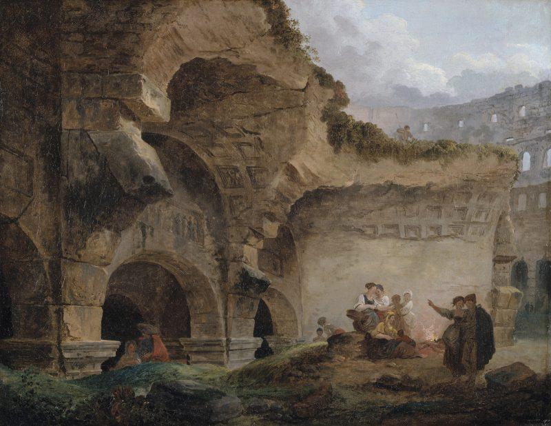 Робер Гюбер «Прачки в руинах Коллизея», 1767 год