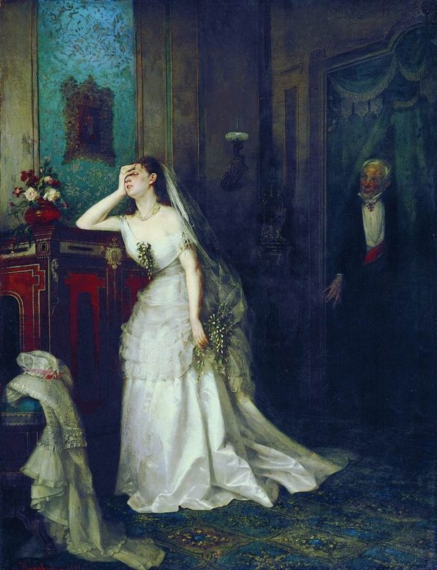 Фирс Журавлев «После венчания», 1880 год