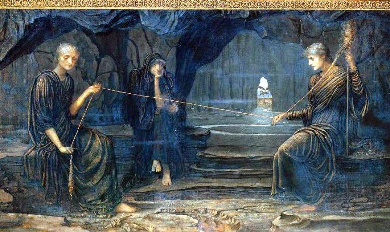 Джон Мелуиш Струдвик «Золотая нить», фрагмент