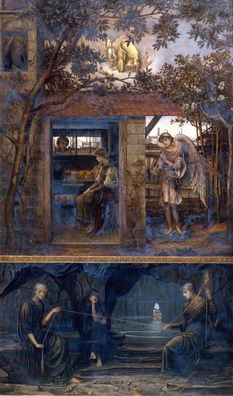 Джон Мелуиш Струдвик «Золотая нить», 1885 год