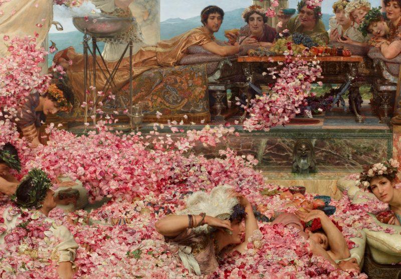 Лоуренс Альма-Тадема «Розы Геолигабала», фрагмент