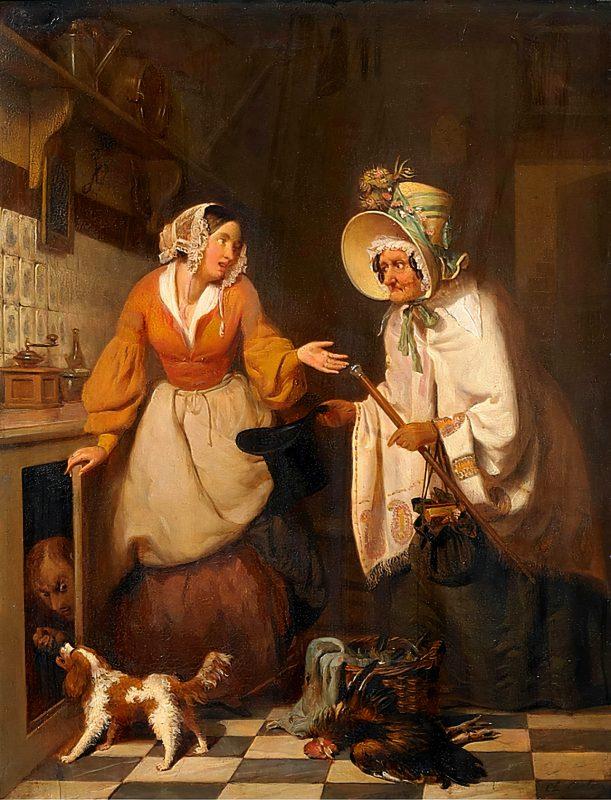 Шарль Картон «Кухарка, пойманная на месте преступления», 19 век