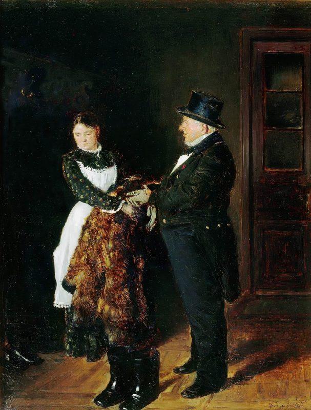Владимир Маковский «В передней», 1884 год