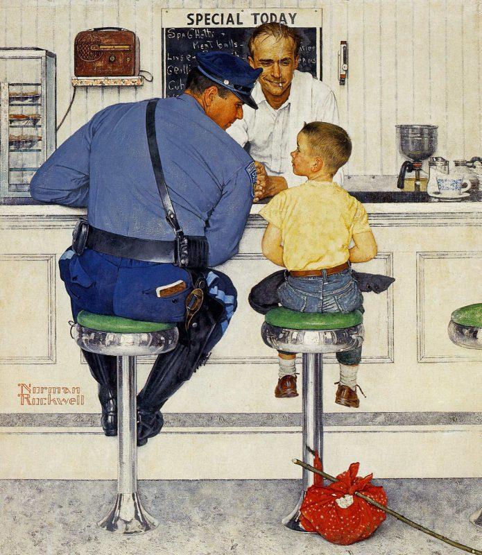 Норман Роквелл «Беглец», 1958 год