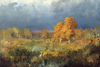 Фёдор Васильев «Болото в лесу. Осень», 1873 год