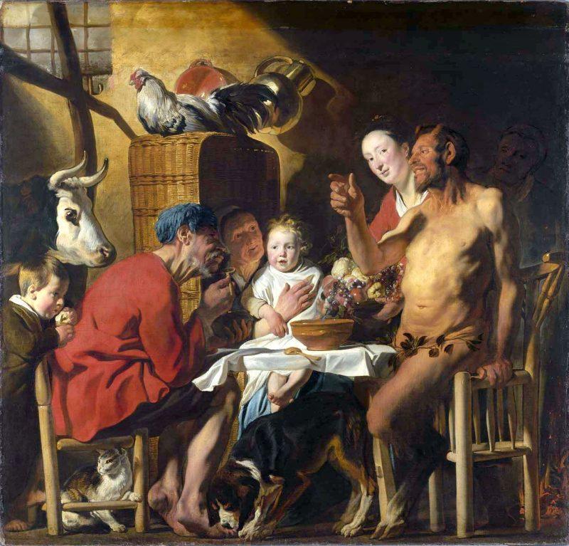 Якоб Йорданс «Сатир в гостях у крестьянина», 1620-1621 годы