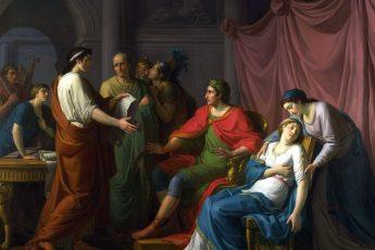 "Жан-Жозеф Тайлассон «Вергилий, читающий ""Энеиду"" Октавии и Августу»,1787 год"