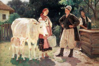 Николай Пимоненко «У колодца (Соперницы)», 1909 год